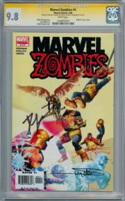 Marvel Zombies #4 CGC 9.8 Signature Series Signed Robert Kirkman Arthur Suydam X-Men #1